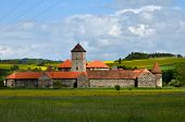 stock photo of cinderella  - Castle Svihov in Czech republic where was shooted fairy tale  - JPG