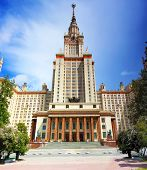 picture of mater  - Lomonosov Moscow State University Main Building main entrance - JPG