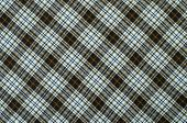 picture of asymmetric  - Blue and brown plaid print as background - JPG