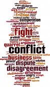 image of friction  - Conflict Word Cloud Concept - JPG