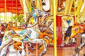 pic of carnival ride  - Carousel - JPG