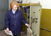 stock photo of relay  - Operator woman - JPG