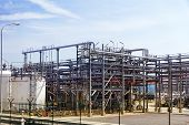 picture of refinery  - The big oil Refinery factory landscape view - JPG