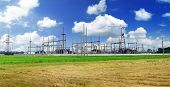 pic of transmission lines  - The Substation and Power Transmission Lines - JPG
