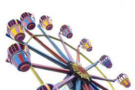 picture of amusement park rides  - A ferris wheel in an amusement park - JPG
