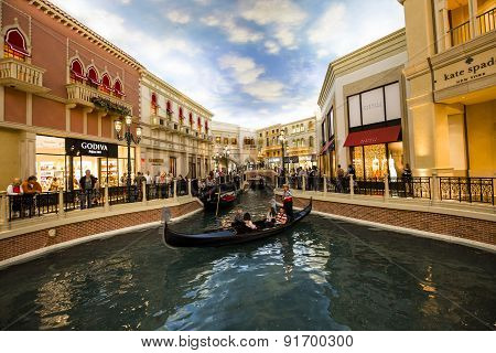 Interiors Of The Venetian Hotel, Las Vegas, Nevada