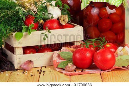 Homemade tomatoes preserves