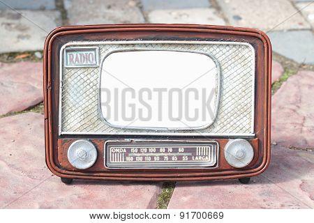 Frame For Photo - Old Radio
