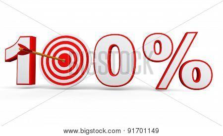 Hundred percent arrow on target