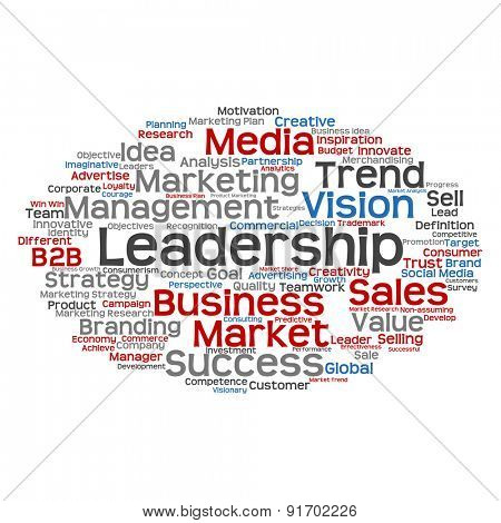 High resolution concept or conceptual abstract business success word cloud or wordcloud isolated on white background