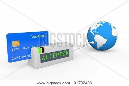 3d credit card global acceptance