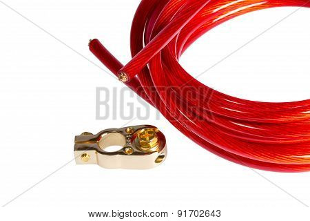 Copper Electric Power Cable And Positive Contact Terminal Car Battery