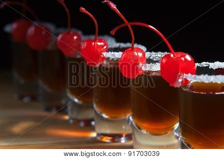 Alcoholic Drink With Cherries