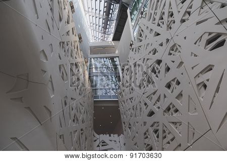 Architectural Detail Of Italy Pavilion At Expo 2015 In Milan, Italy