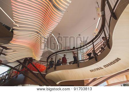 Inside Azerbaijan Pavilion At Expo 2015 In Milan, Italy