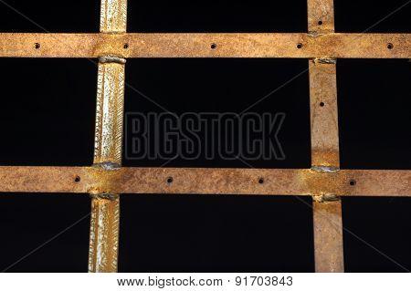 metal bars on the window