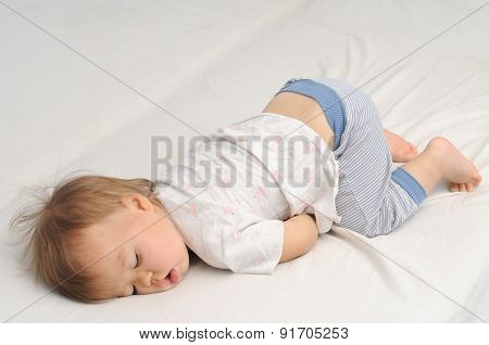Baby Sleeping Bottom Up