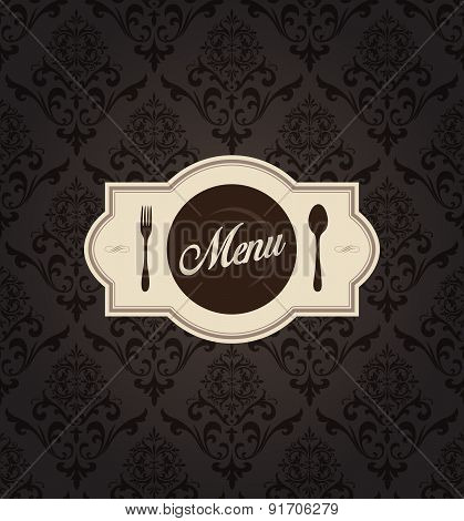Vector Restaurant Menu Label With Background