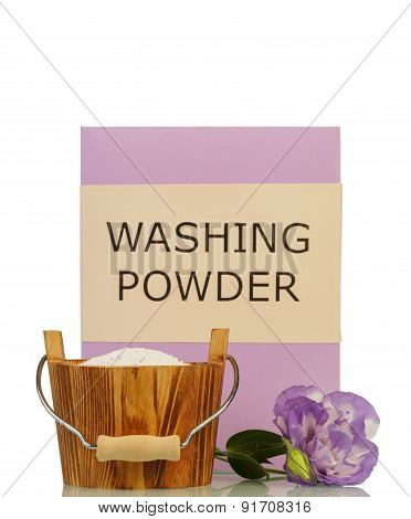 Washing powder and flower