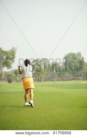 Hitting Ball With A Club