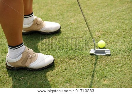 Hitting With Putter