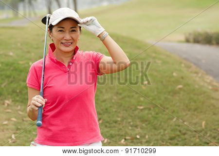 Happy Lady Golfer