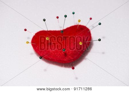 Heart Shape Pincushion