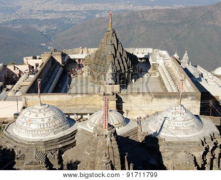Temple Complex On The Holy Girnar Top In Gujarat
