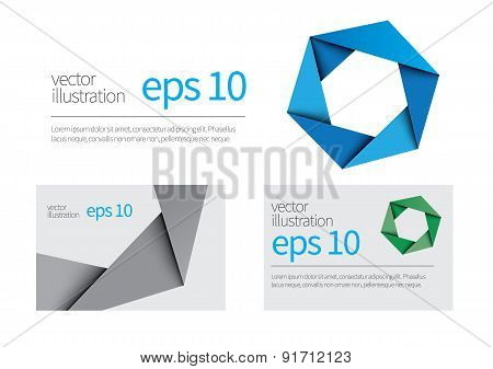 Hexagon Symbol And Business Card