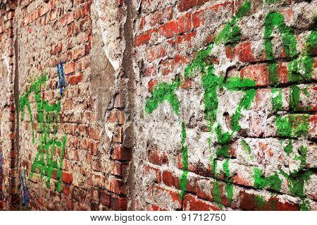 Grunge art wall illustration, urban art wallpaper, background