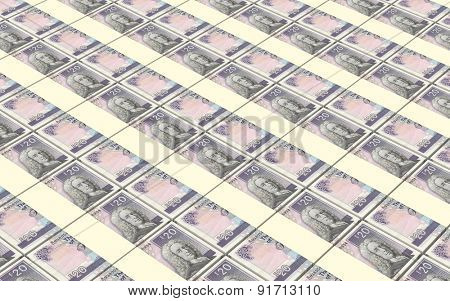 Scotland pound bills stacks background.