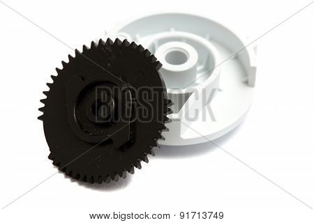 Two Large Gear Isolated On White Background