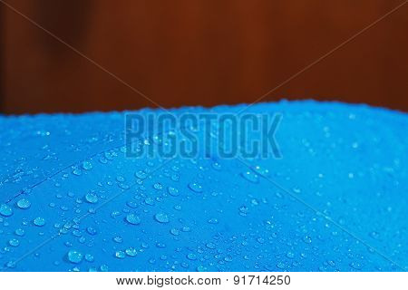 Rain Water Droplets On  Waterproof Fabric