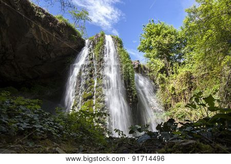 Waterfall In The Spring