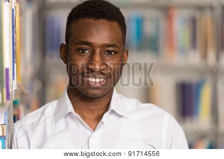 Portrait Of Clever Black Student