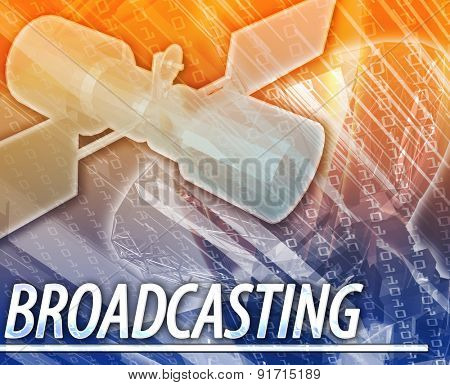 Abstract background digital collage concept illustration broadcasting communications