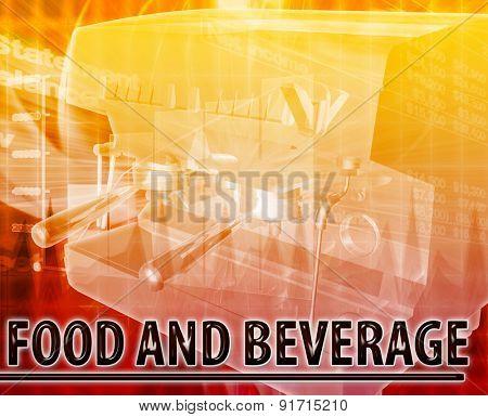 Abstract background digital collage concept illustration Food & Beverage