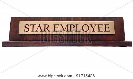 Star Employee Name Plate