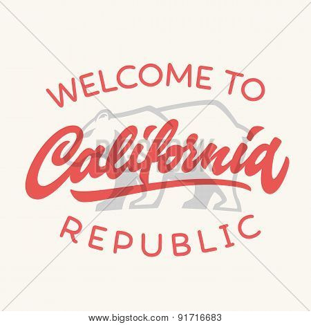 Vintage california republic  t-shirt design