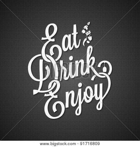 food and drink vintage lettering background