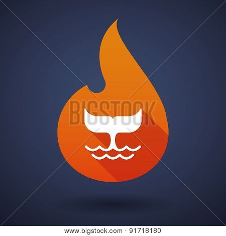 Flame Icon With A Whale Tail