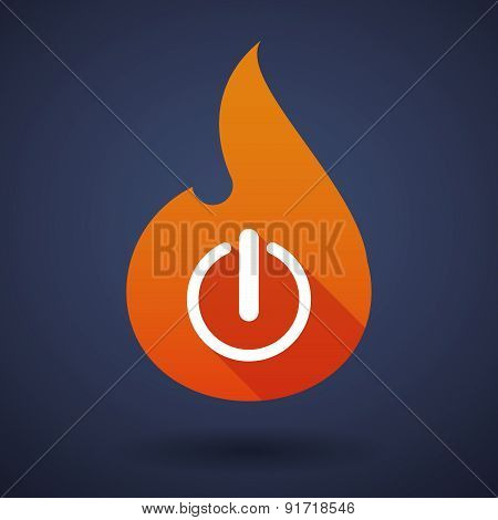 Flame Icon With An Off Button