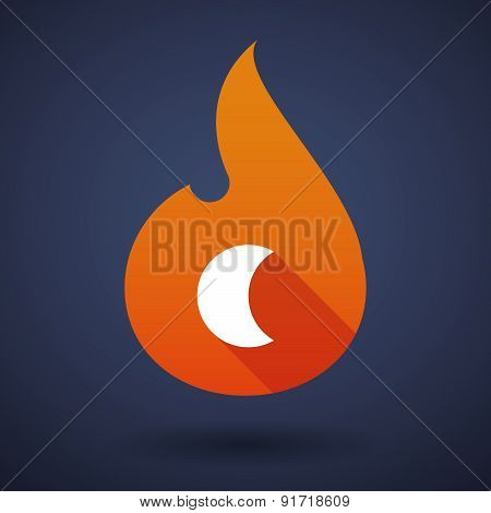 Flame Icon With A Moon
