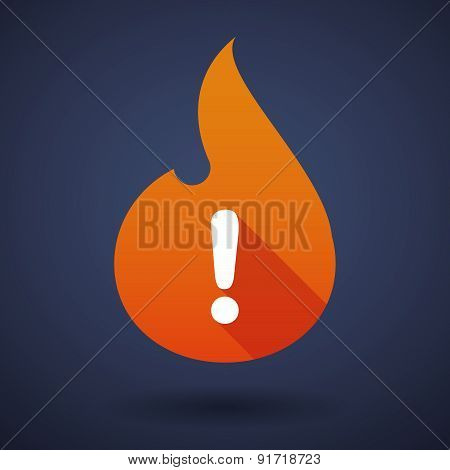 Flame Icon With An Exclamation Sign