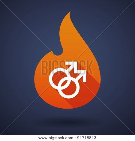 Flame Icon With A Gay Sign