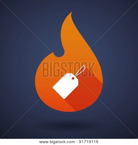 Flame Icon With A Product Label