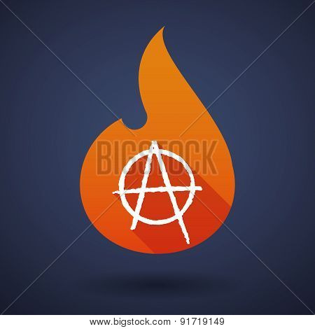 Flame Icon With An Anarchy Sign
