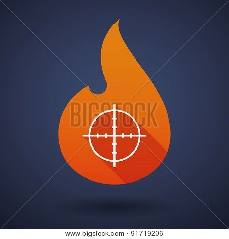 Flame Icon With A Crosshair