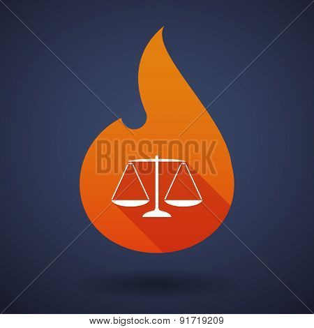 Flame Icon With A Weight Scale