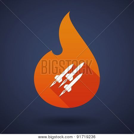 Flame Icon With Missiles